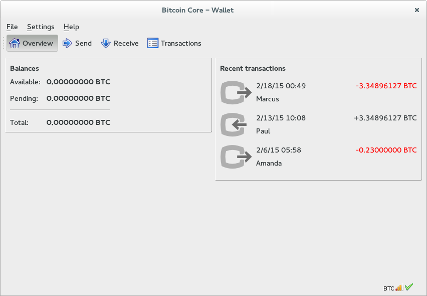 bitcoin core wallet adresas